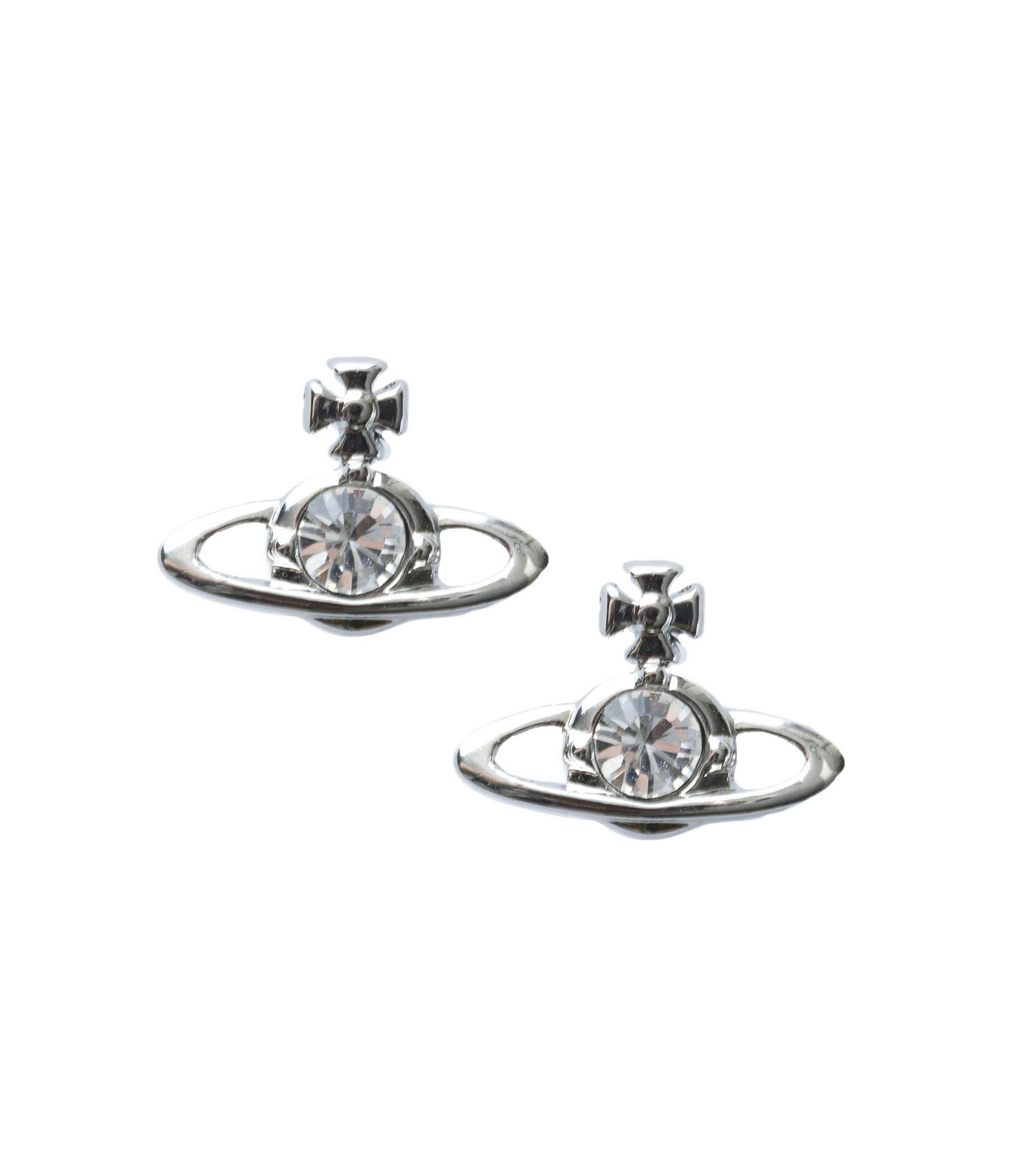vivienne ladies westwood solitaire nano gold triads earrings jewellery accessories
