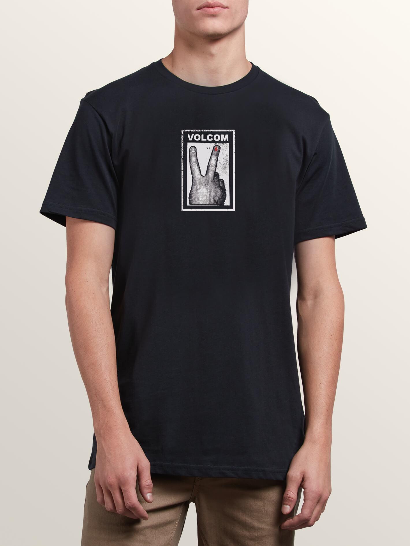 32179398497b Volcom - Black Peace Off Short Sleeve Tee for Men - Lyst. View fullscreen