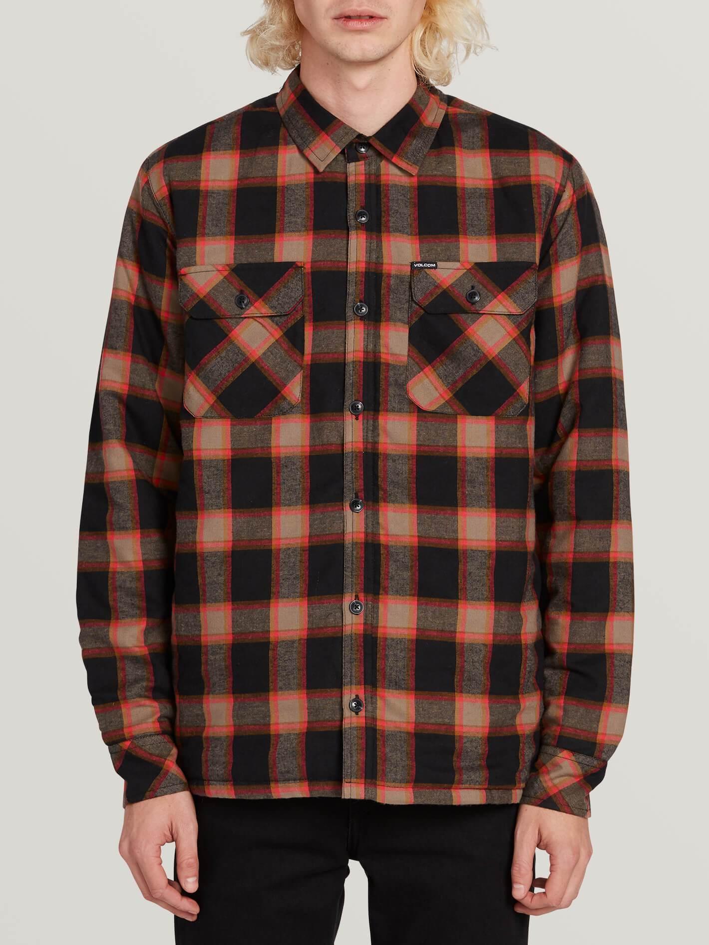 Volcom Big Boys Oxford Modern Fit Long Sleeve Woven Shirt