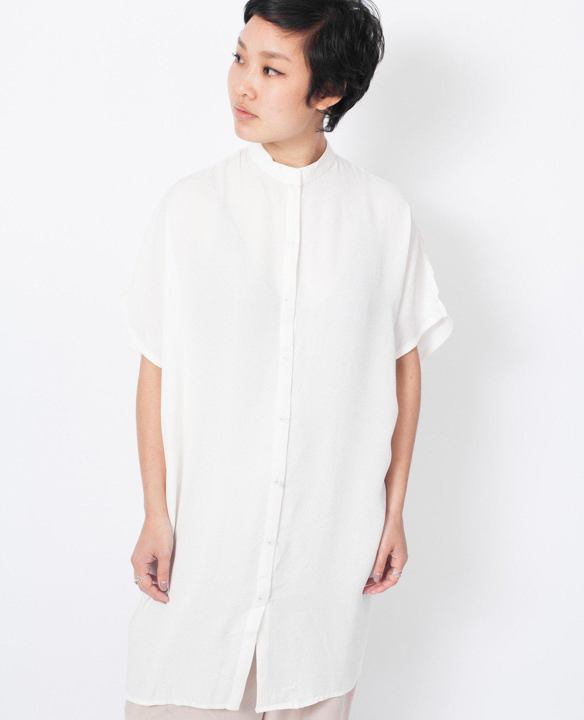 e1948efd654a6c Lyst - Kaarem Dolman Shirt Dress / White in White