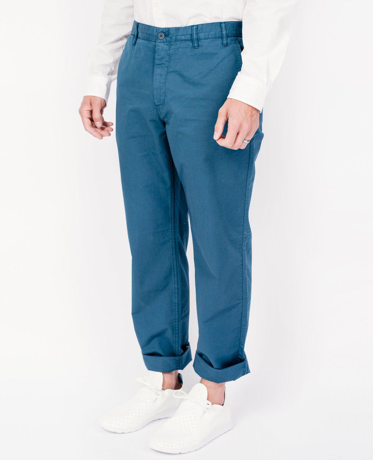 a92860e0218 Norse Projects Aros Light Twill Pants / Aluminium Petrol in Blue for ...