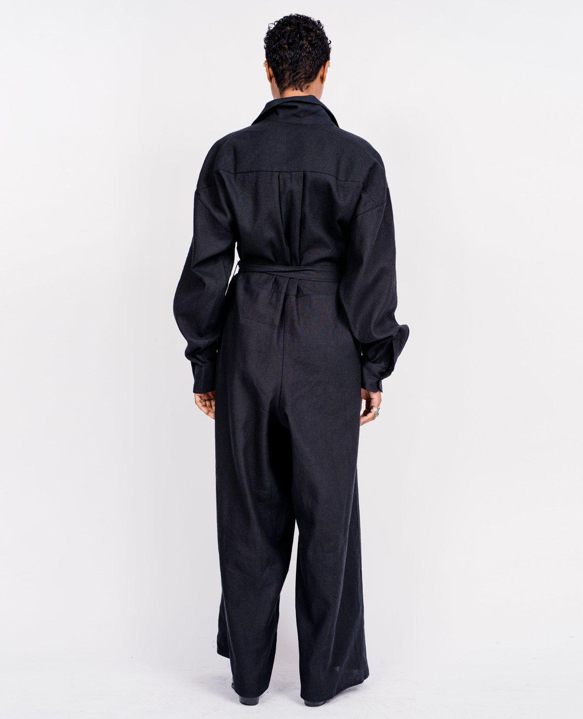 e13a7ce67c12 Lyst - Baserange Aorta Jumpsuit   Black in Black