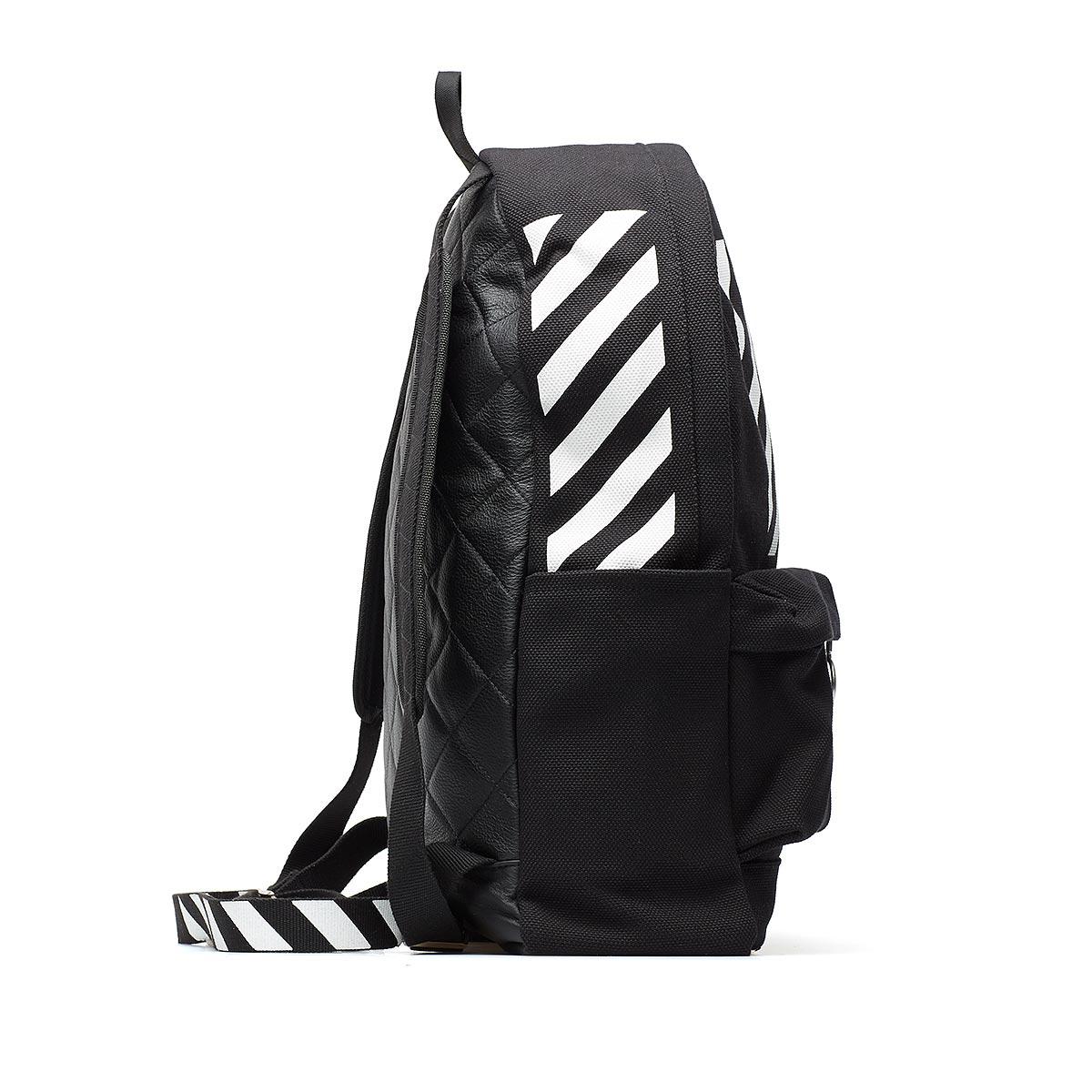 off white c o virgil abloh diagonals backpack in white for. Black Bedroom Furniture Sets. Home Design Ideas