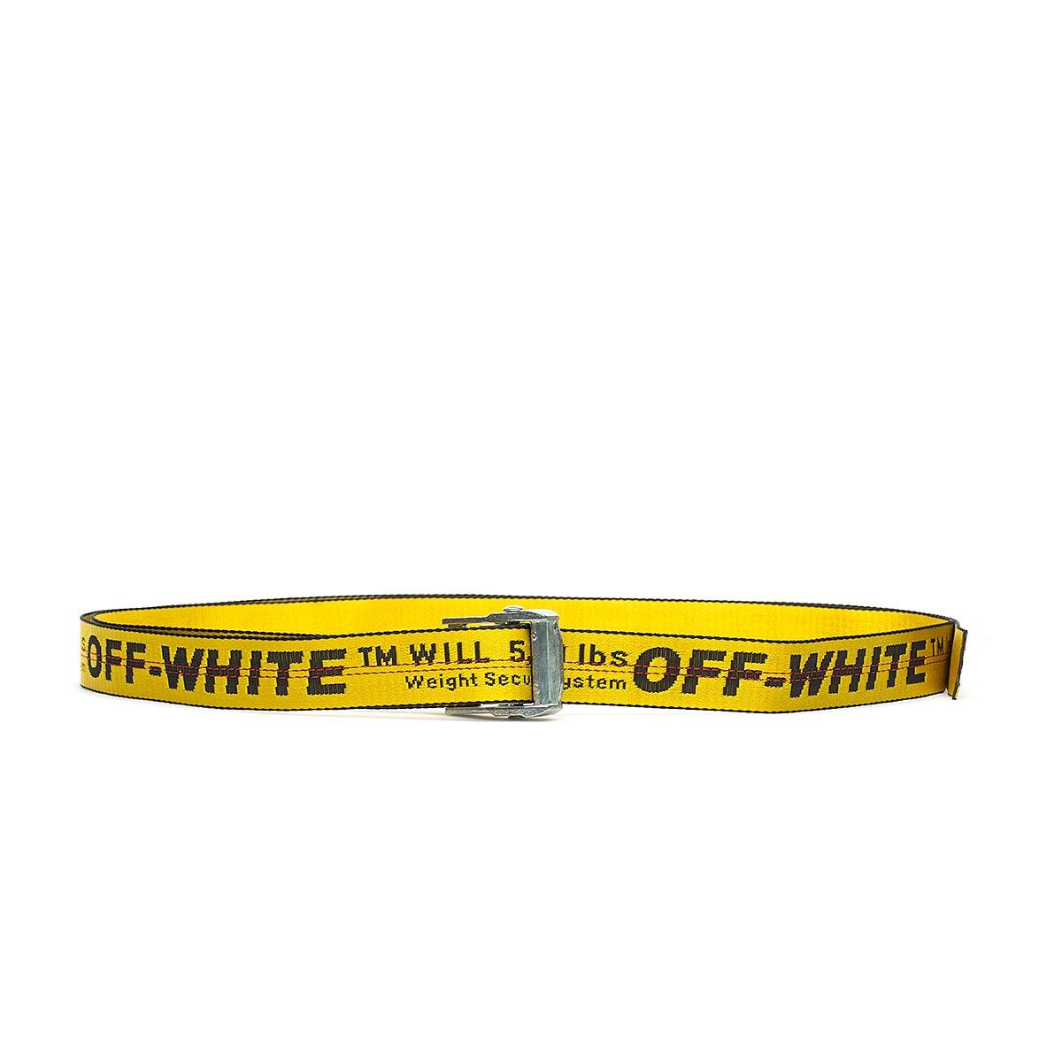 off white c o virgil abloh industrial belt in yellow for men lyst. Black Bedroom Furniture Sets. Home Design Ideas