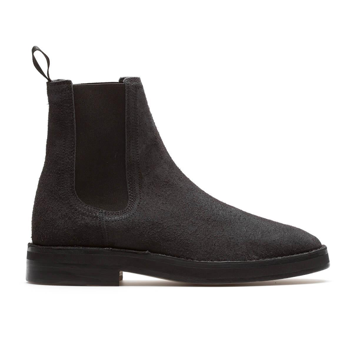 Yeezy Suede Black Chelsea Boots for Men