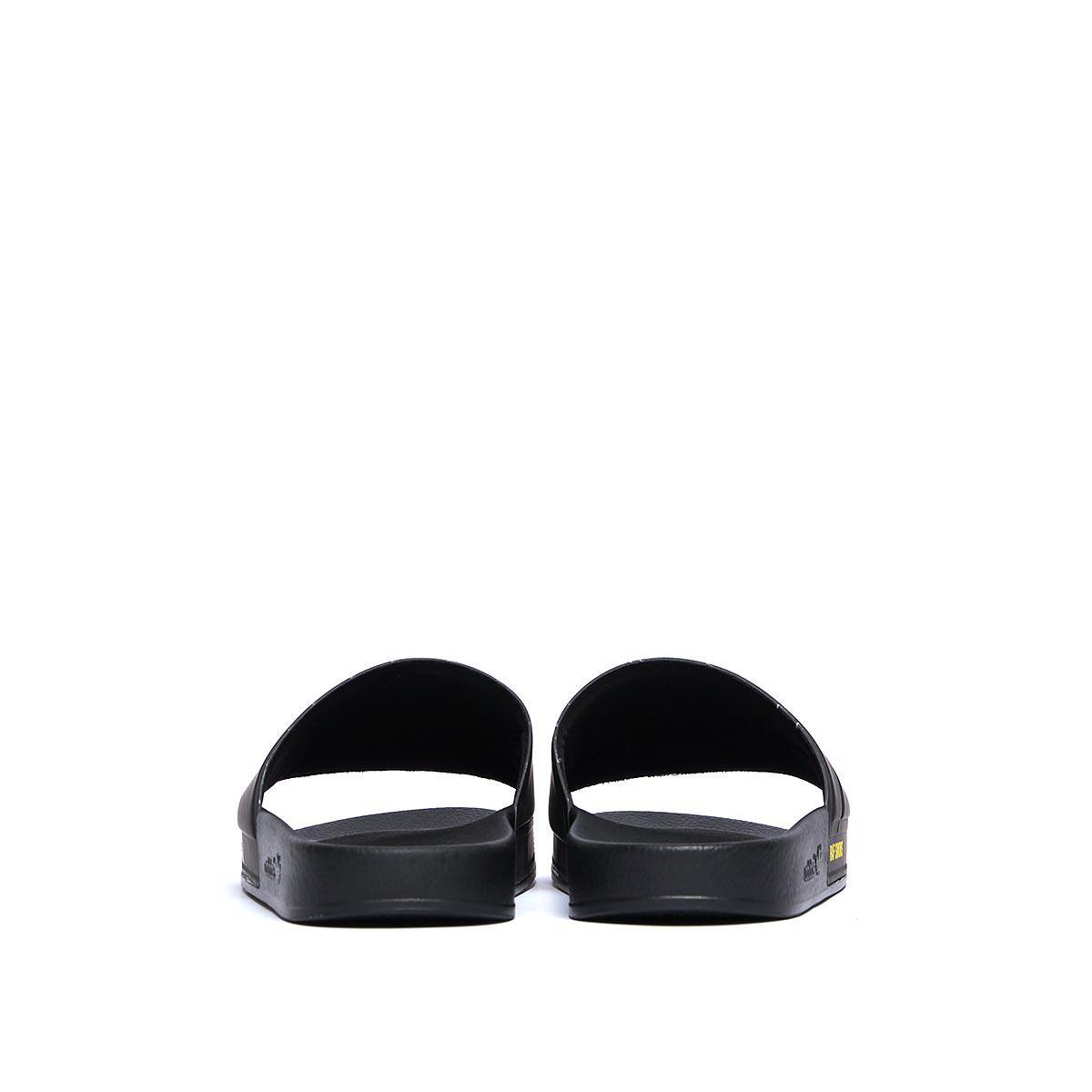 fa1804a266144c Lyst - adidas By Raf Simons Bunny Adilette Rubber Slides in Black ...