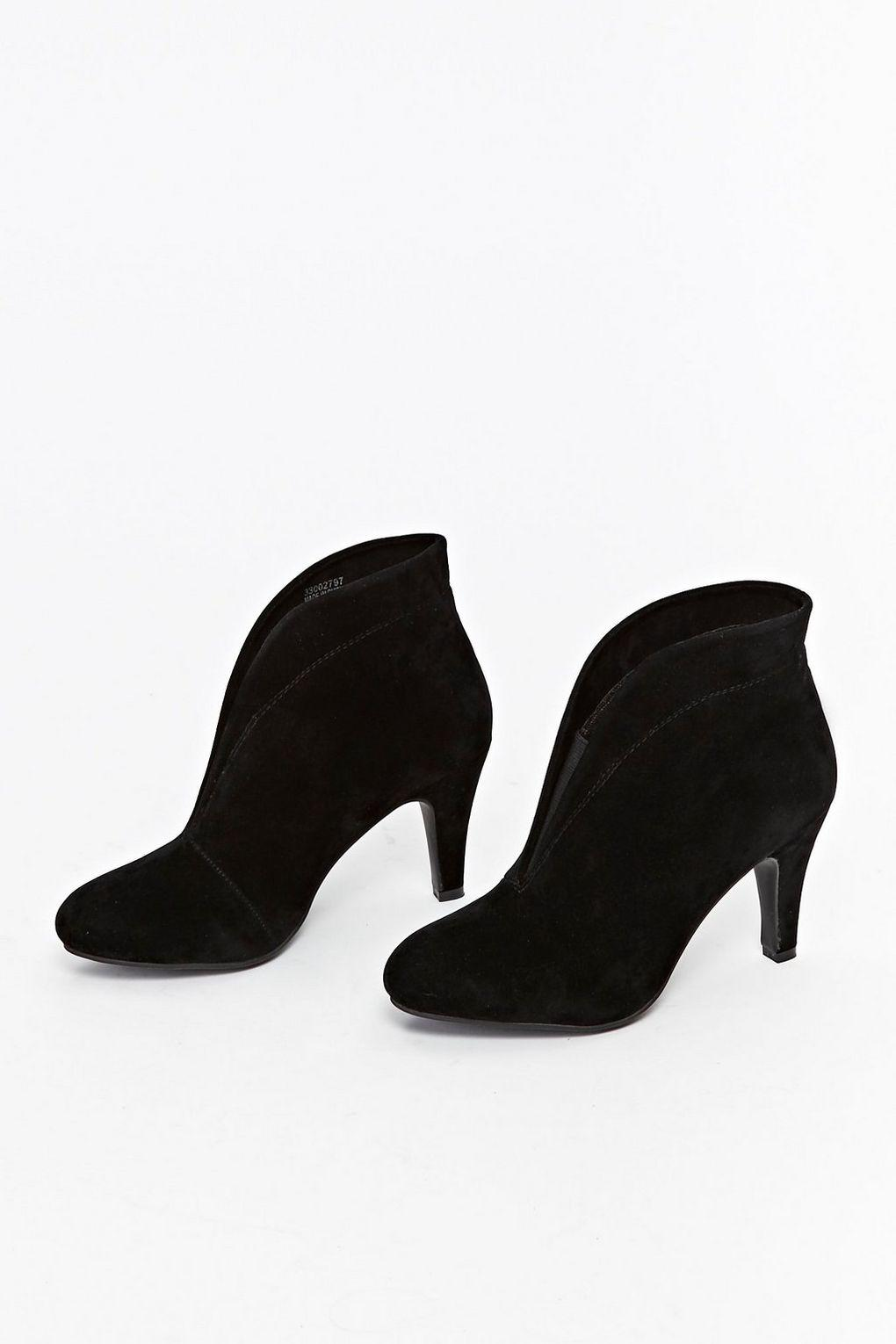 a few days away cheap price new collection Black Heeled Ankle Boot