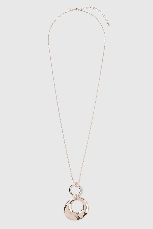 Wallis Rose Gold Pendant Necklace in Metallic