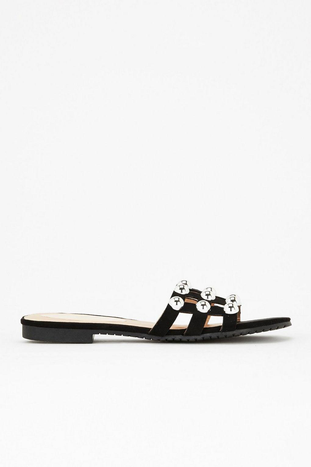 Black stud detail caged flat sandals high quality cheap online cheap sale browse online cheap sale pay with paypal discount nicekicks zYK7Fim