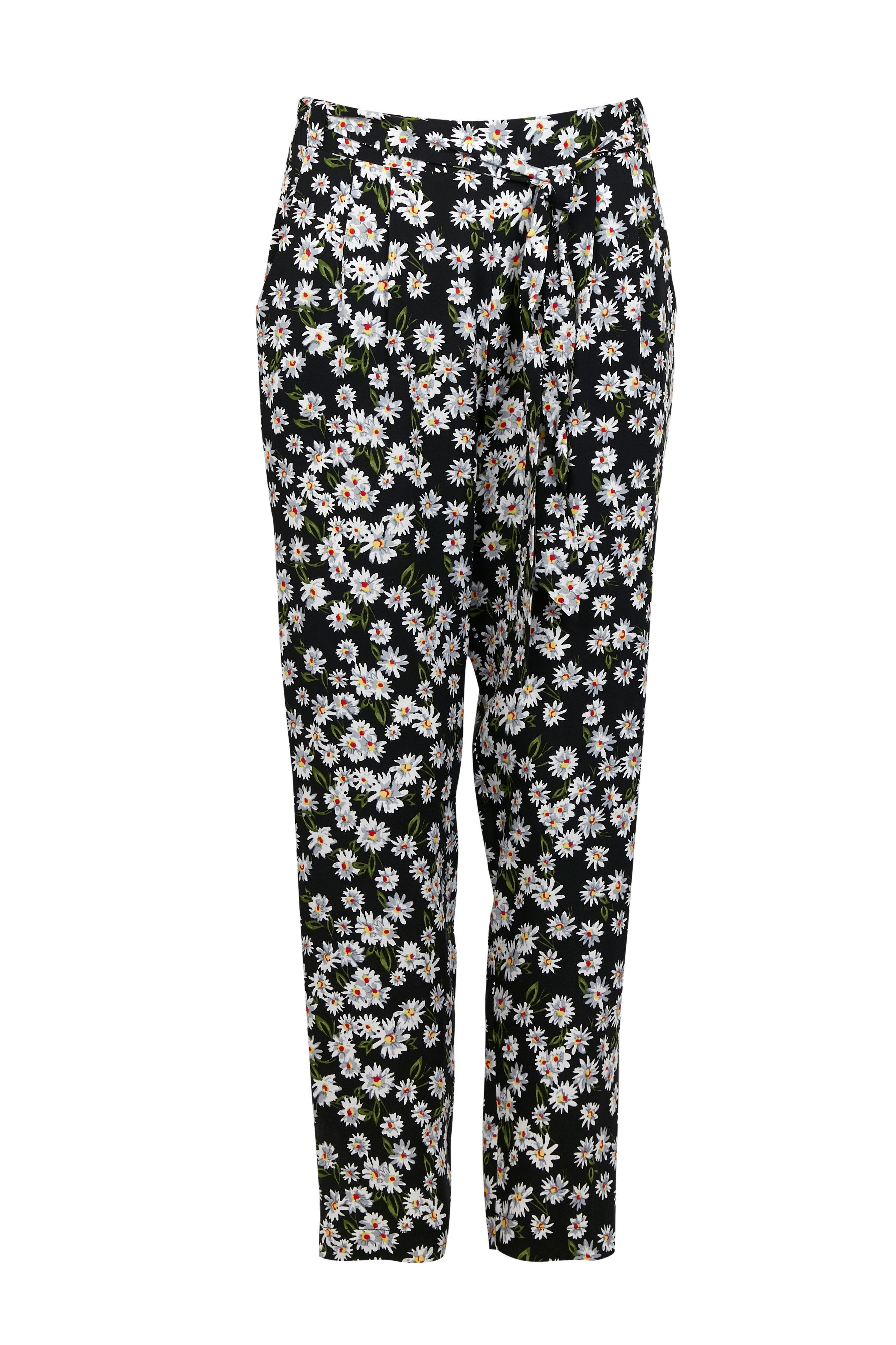 buy sale shop best sellers special section Wallis Synthetic Petite Black Daisy Printed Trouser - Lyst