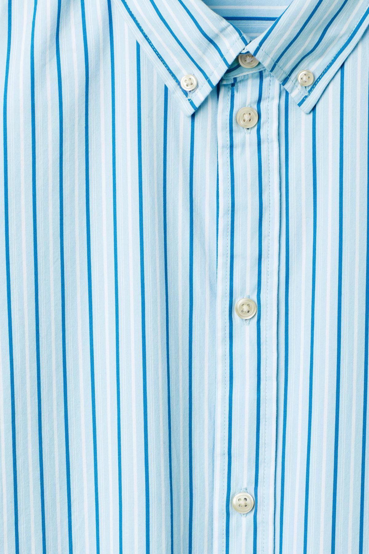 Weekday Cotton Seattle Stripe Shirt in Blue for Men
