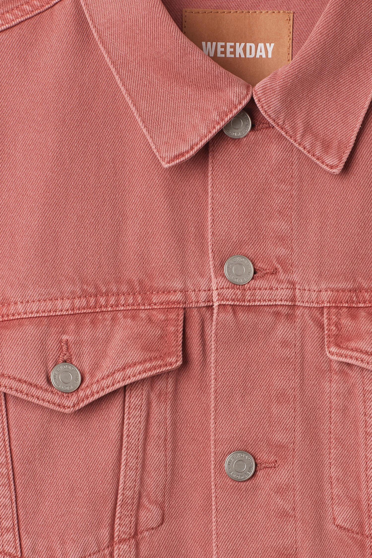 Weekday Denim Single Jacket Rose in Coral (Pink) for Men