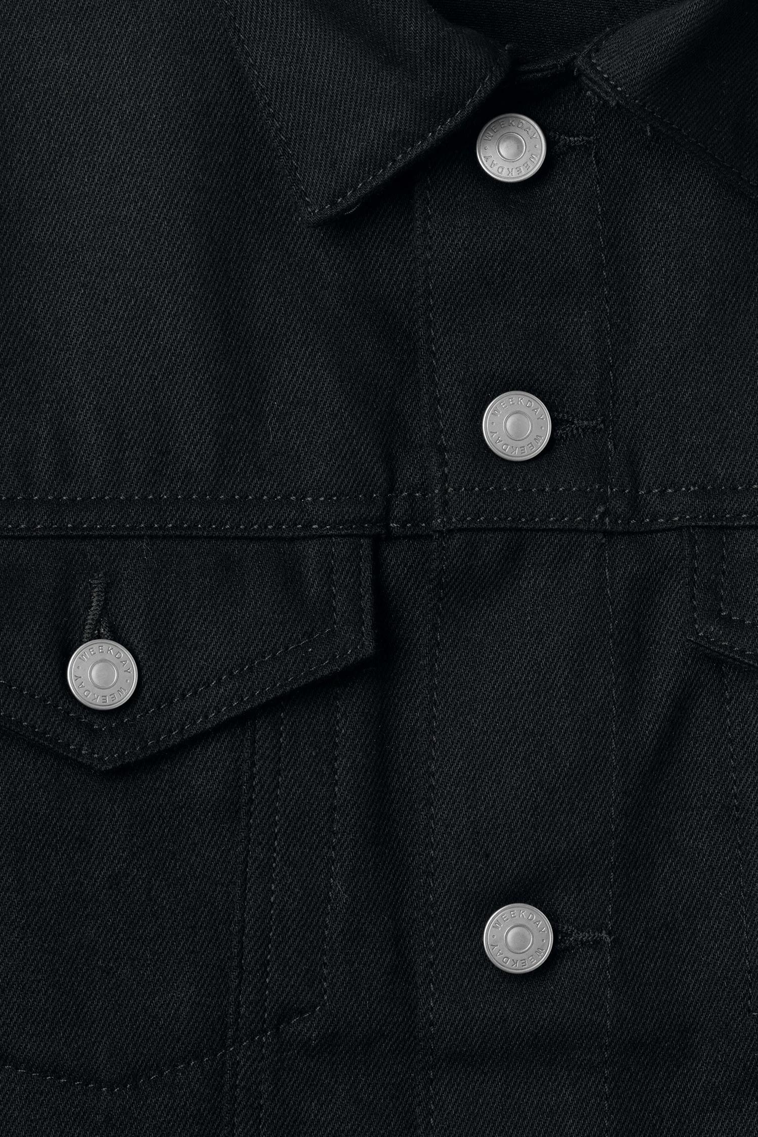 Weekday Denim Single Unwashed Black Jacket for Men