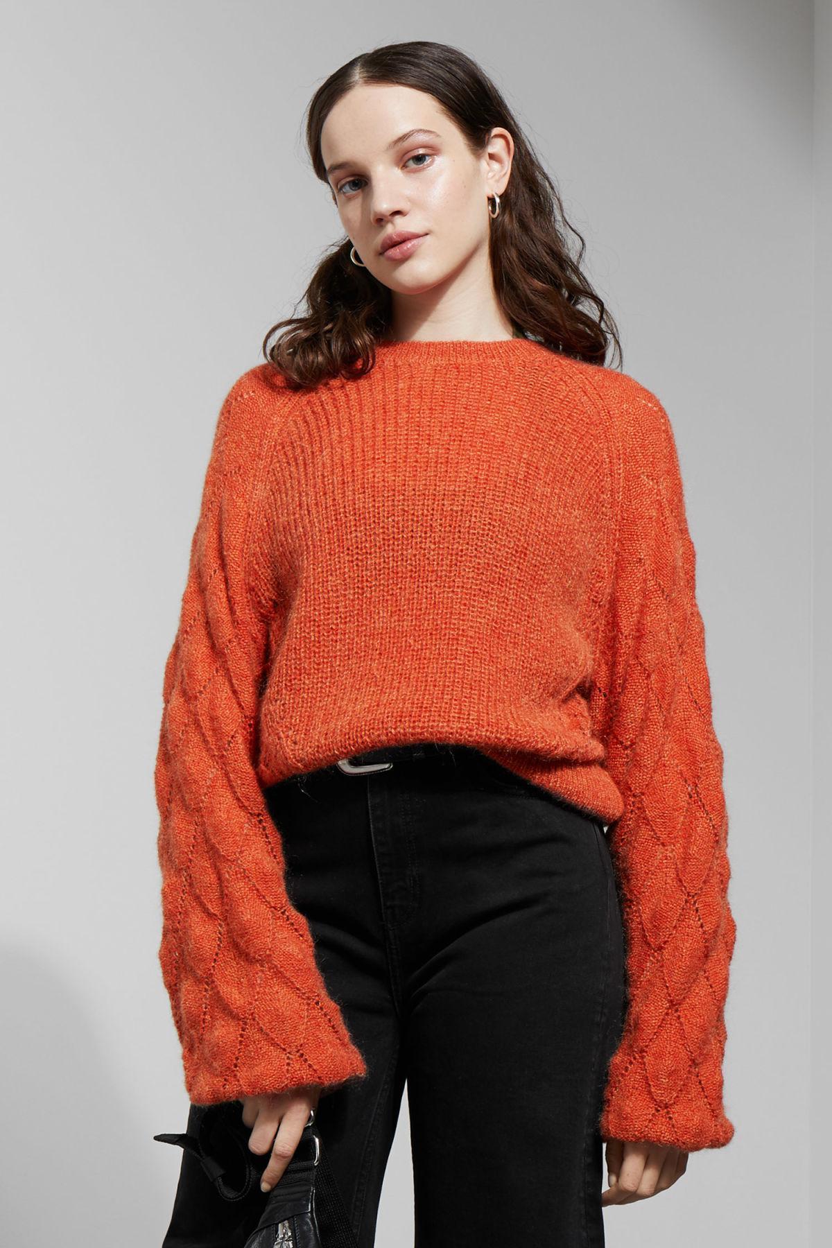 Lyst Orange Sweater Weekday Soul In qwXfHag