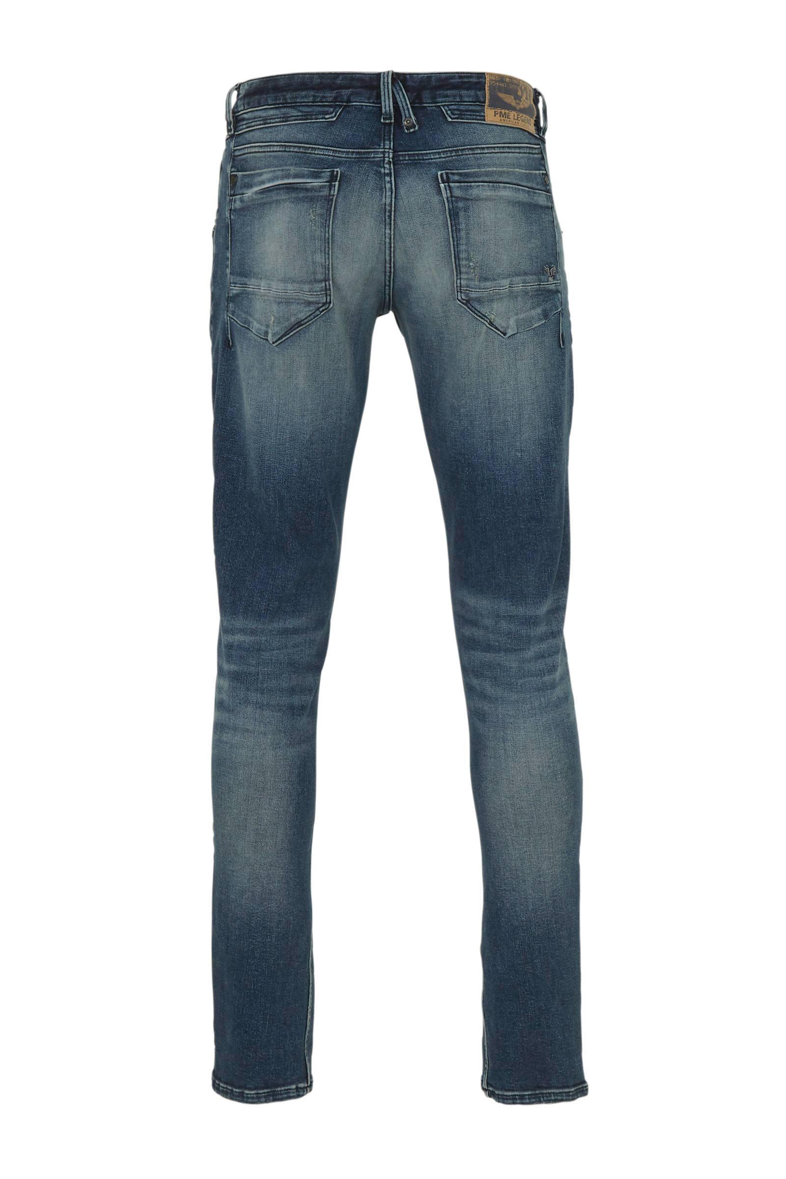 PME LEGEND Denim Straight Fit Jeans Curtis Left Hand Vintage in het Blauw voor heren