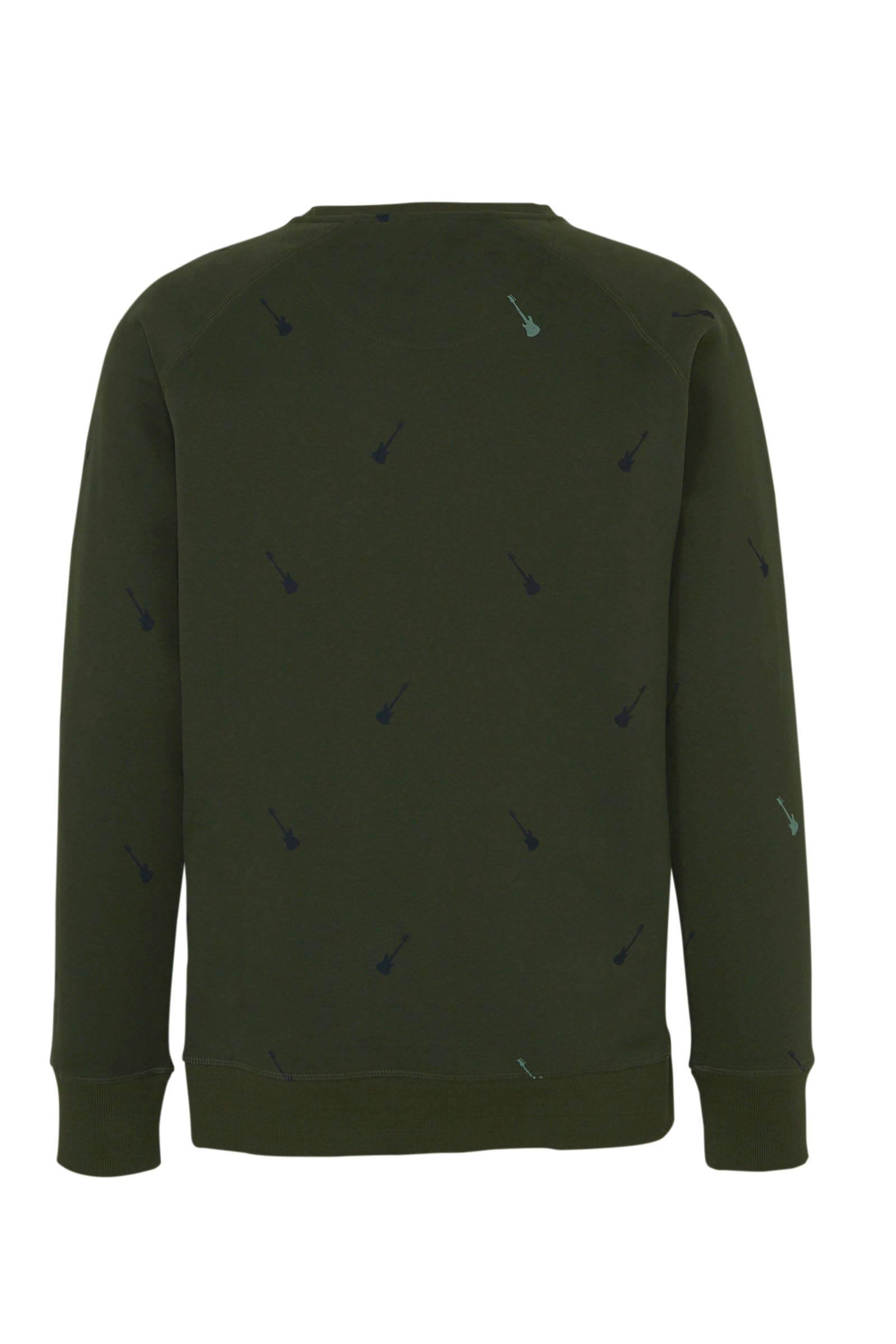Dstrezzed Sweater Met All Over Print Groen in het Groen voor heren