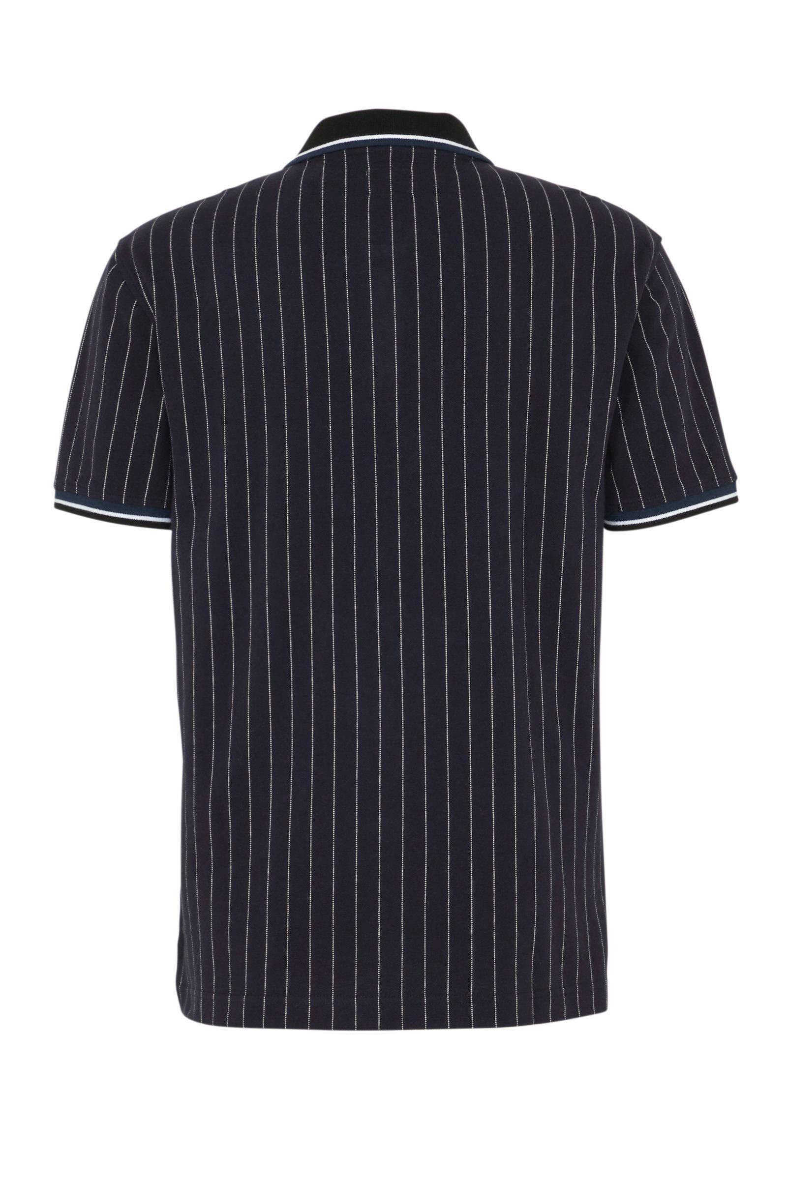 Levi's Gestreepte Regular Fit Polo Donkerblauw in het Blauw voor heren