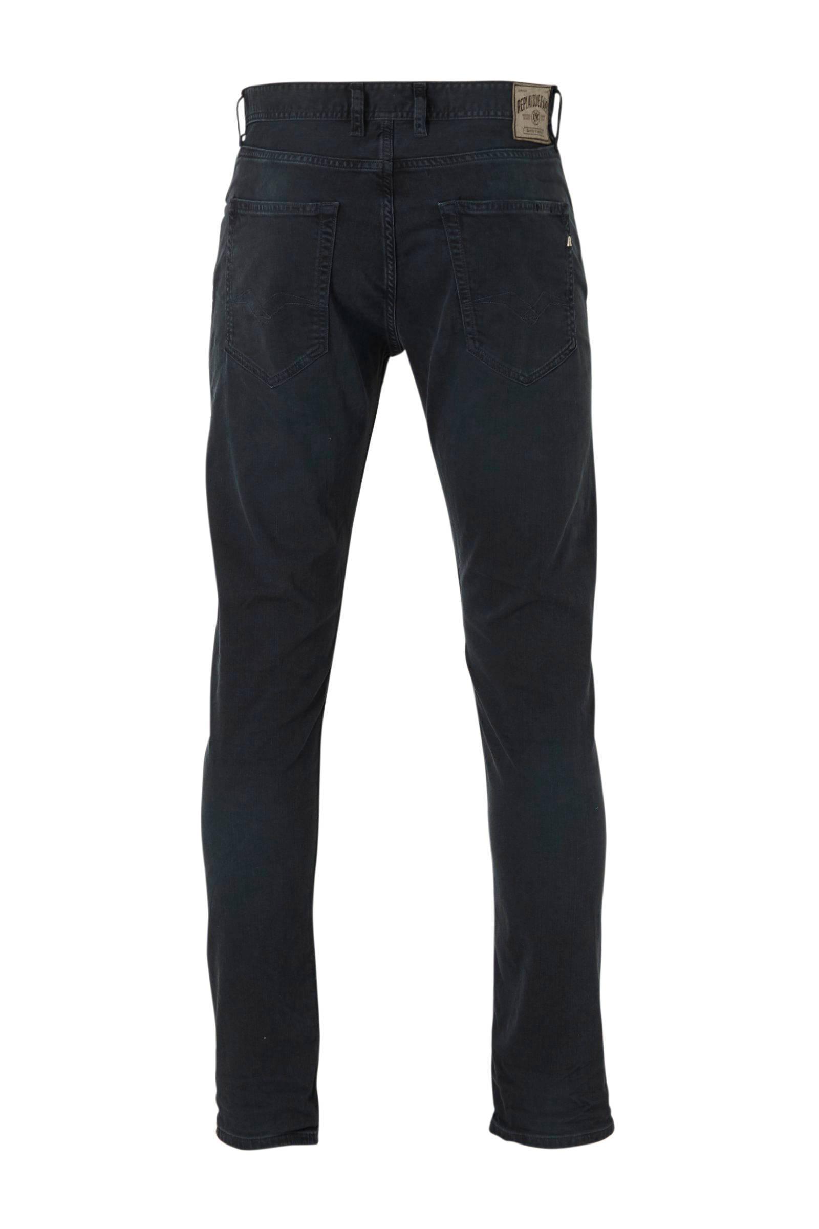 Replay Denim Straight Fit Jeans Grover Blue voor heren