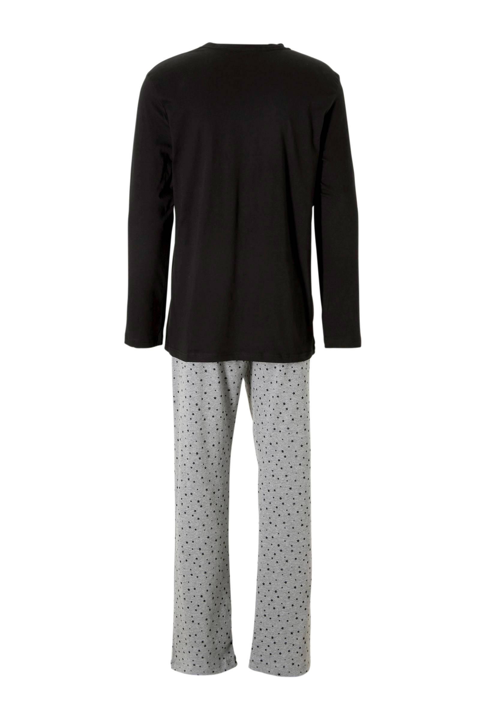 Esprit Men Bodywear Pyjama Met Sterren Blauw in het Zwart voor heren