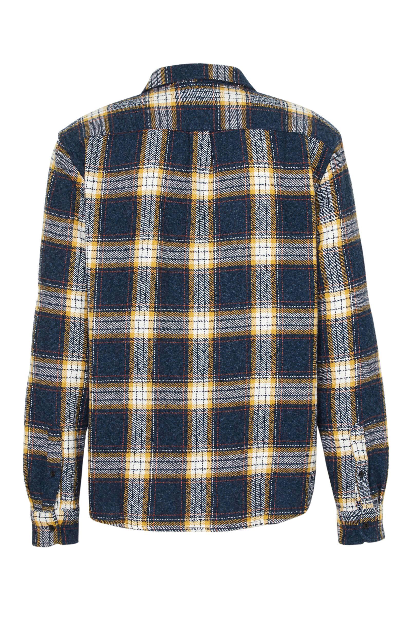 Wrangler Geruit Regular Fit Overhemd Donkerblauw in het Blauw voor heren