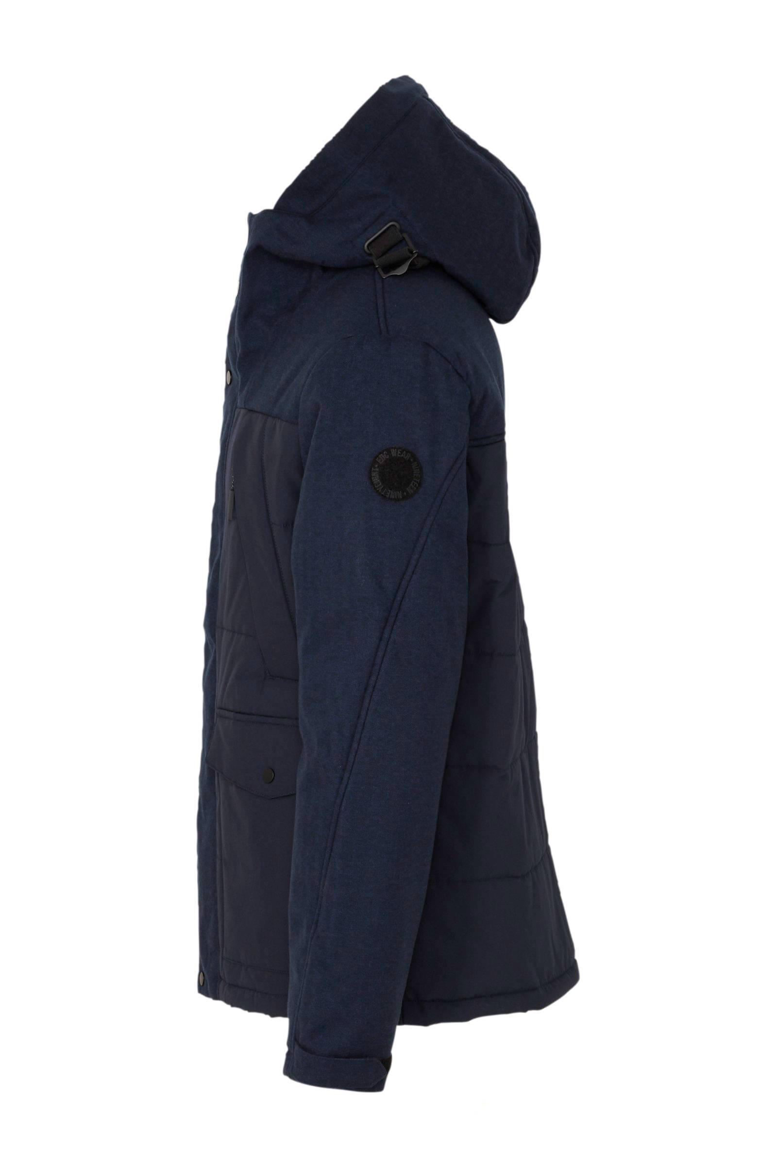 Esprit Synthetisch Men Casual Winterjas Marine in het Blauw voor heren