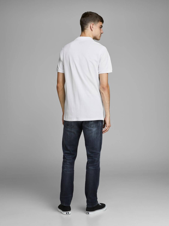 Jack & Jones Essentials Basic Slim Fit Polo Wit in het Wit voor heren