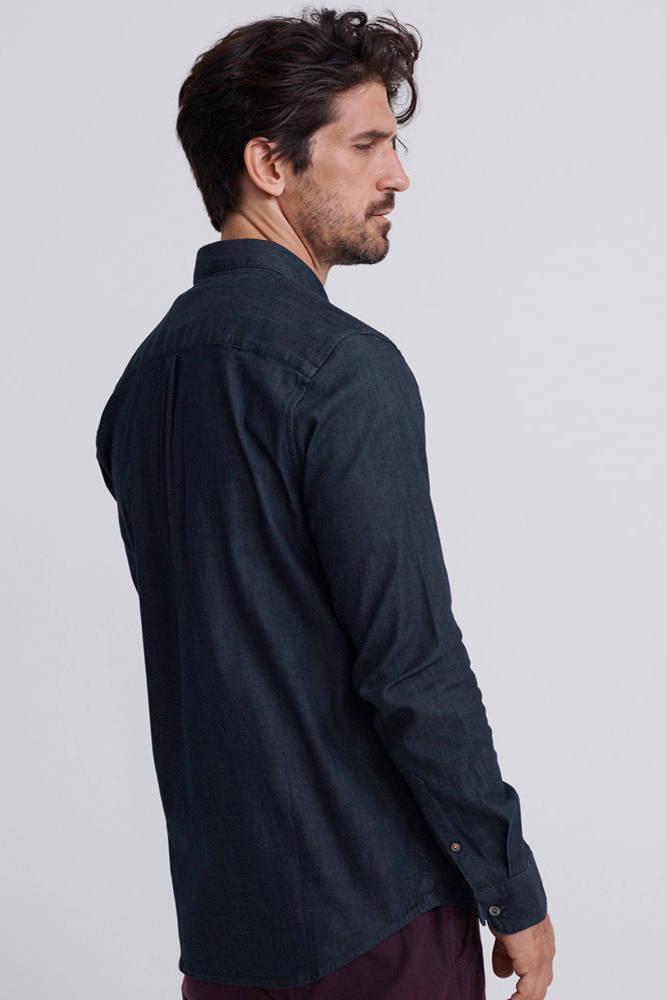 Superdry Regular Fit Denim Overhemd Blauw in het Blauw voor heren