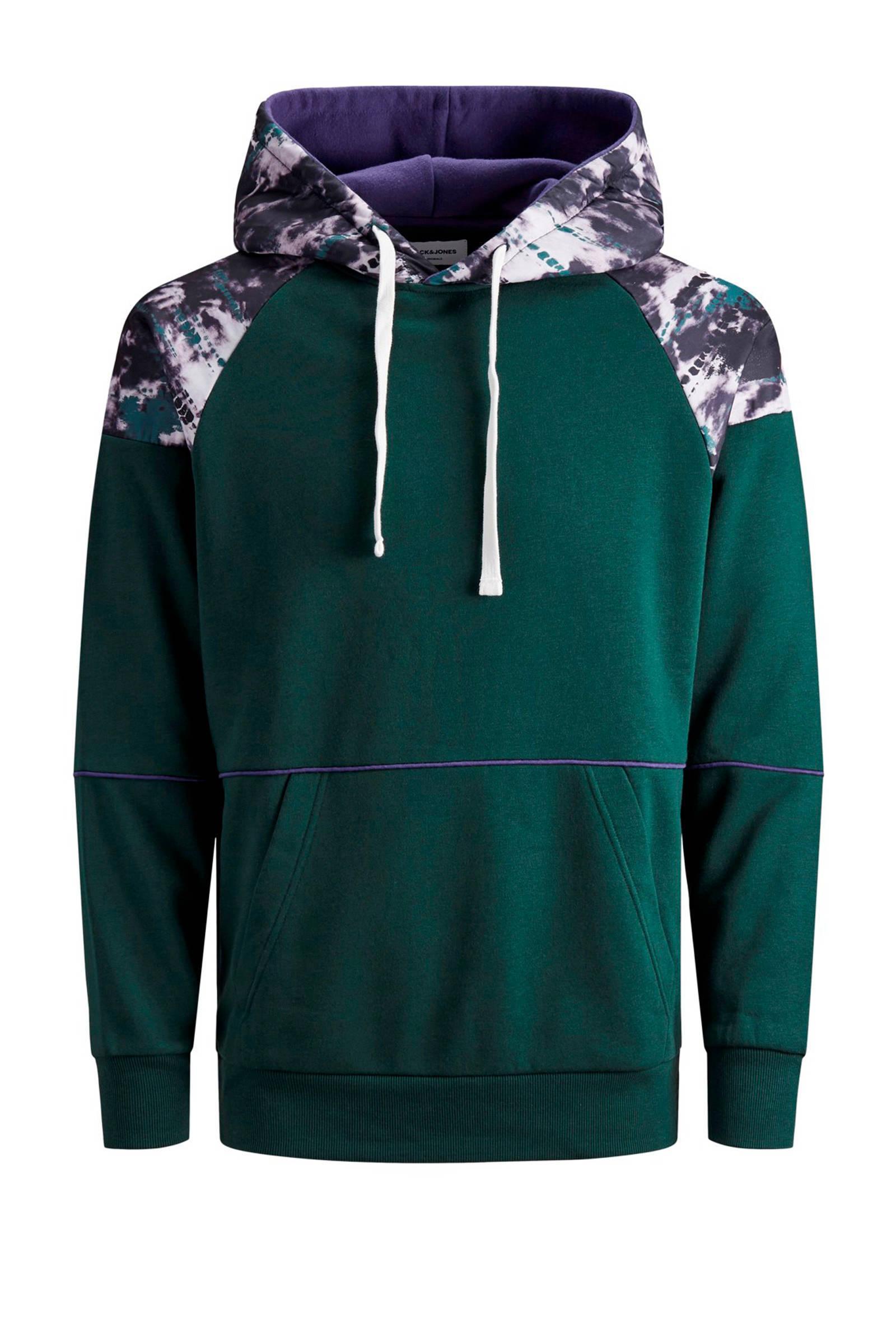 Jack & Jones Originals Hoodie Met All Over Print Groen/wit/paars in het Groen voor heren