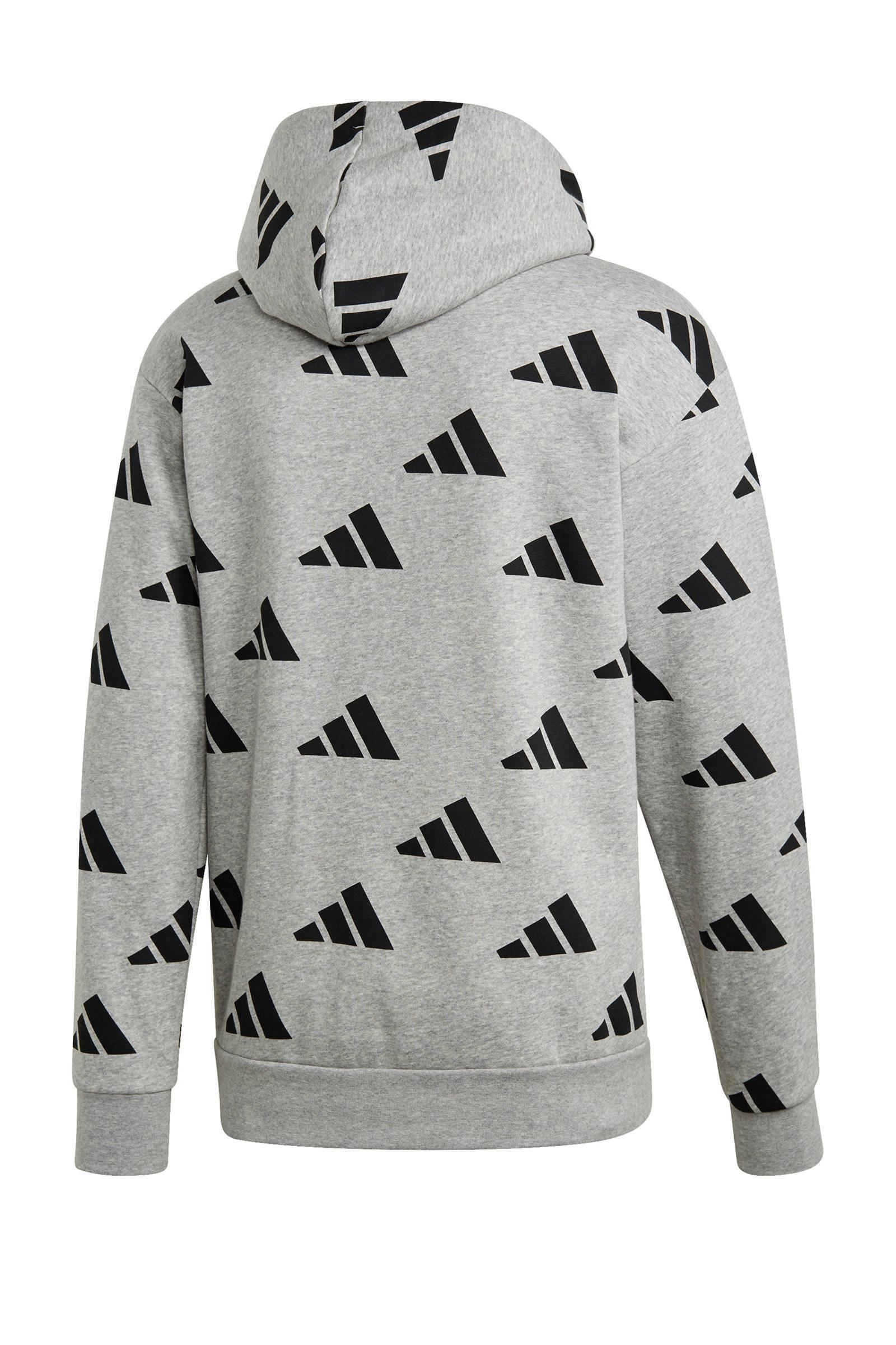 adidas Performance Fleece Sportsweater Grijs in het Grijs voor heren
