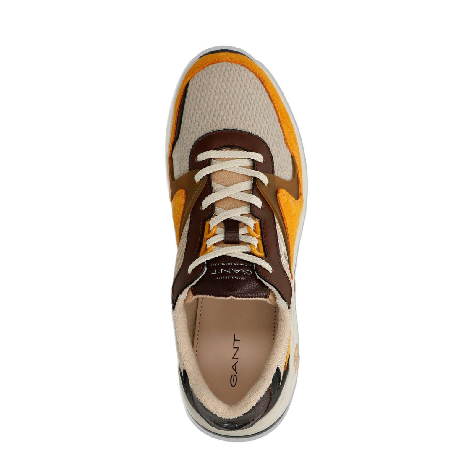 GANT Portland Leren Sneakers Bruin in het Bruin voor heren