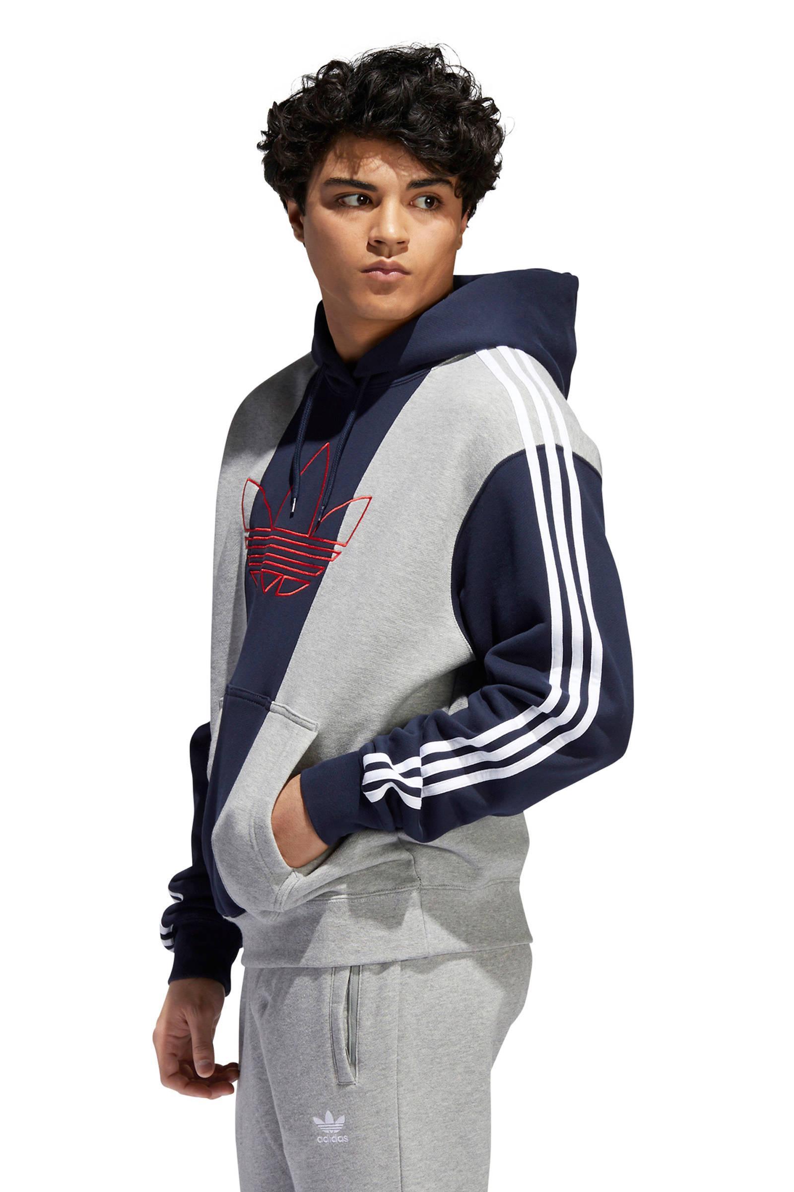 adidas Originals Sweater Grijs/blauw in het Blauw voor heren