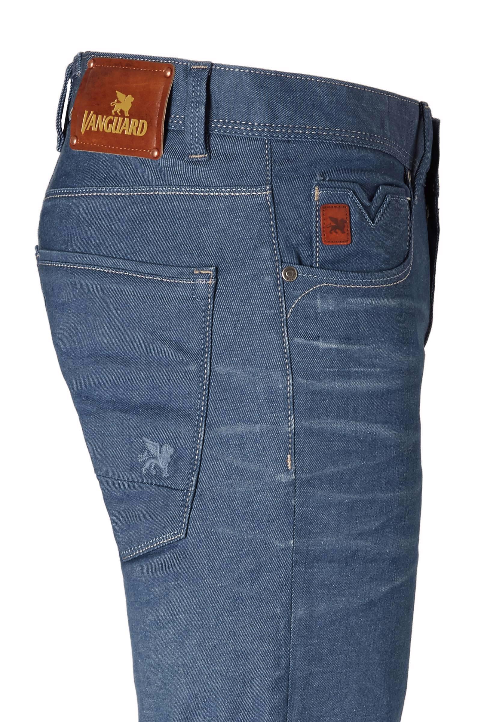 Vanguard Denim Slim Fit Jeans V7 Rider in het Blauw voor heren