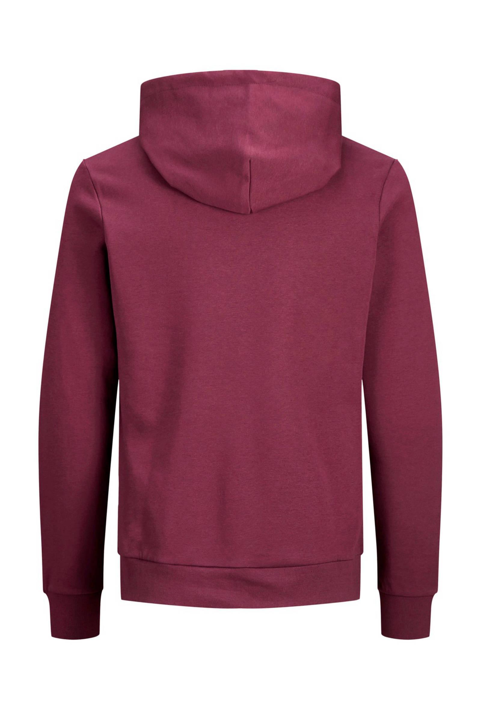 Jack & Jones Essentials Hoodie Met Logo Rood/wit in het Rood voor heren