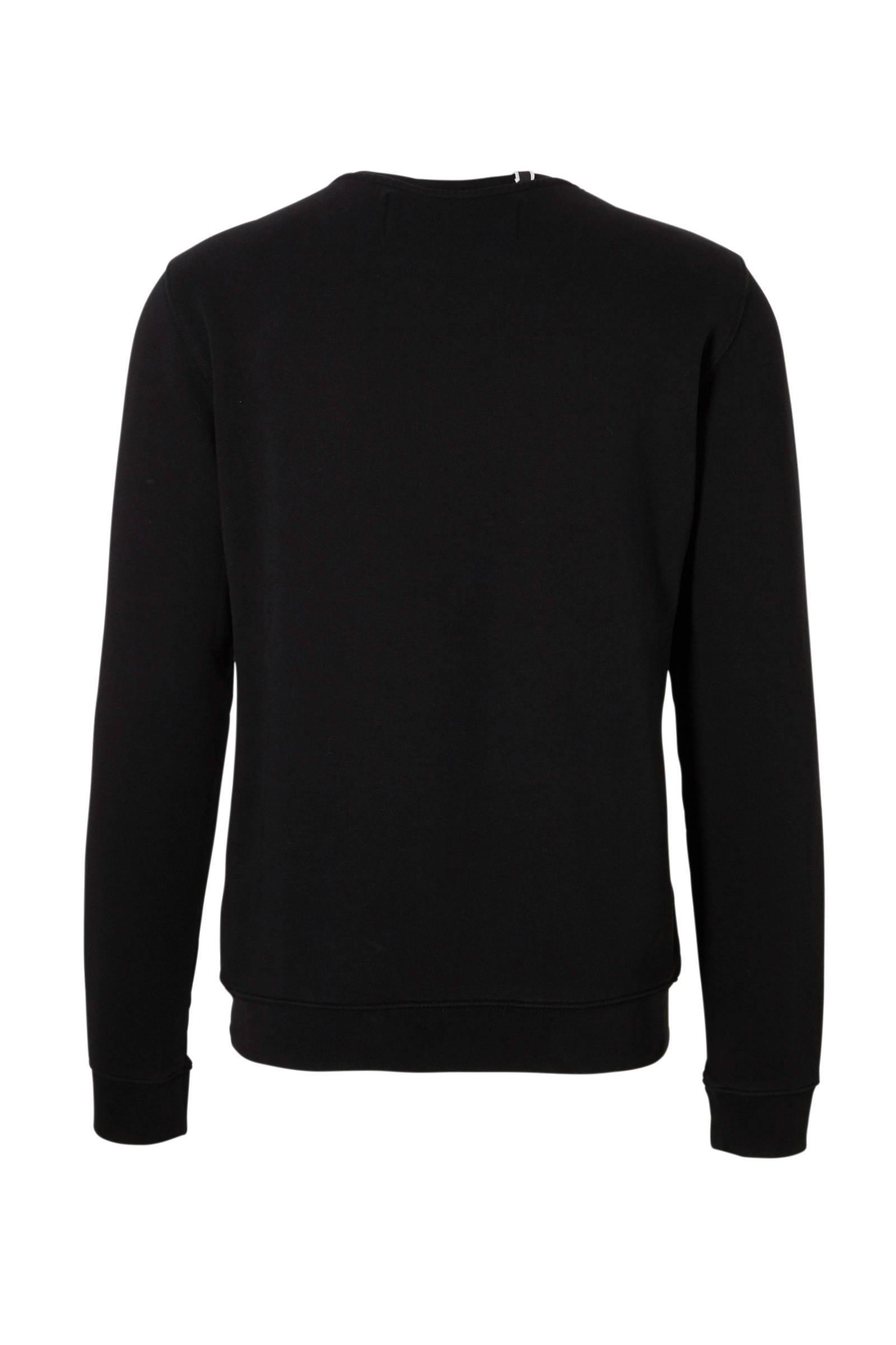 Replay Sweater Met Logo Zwart in het Zwart voor heren