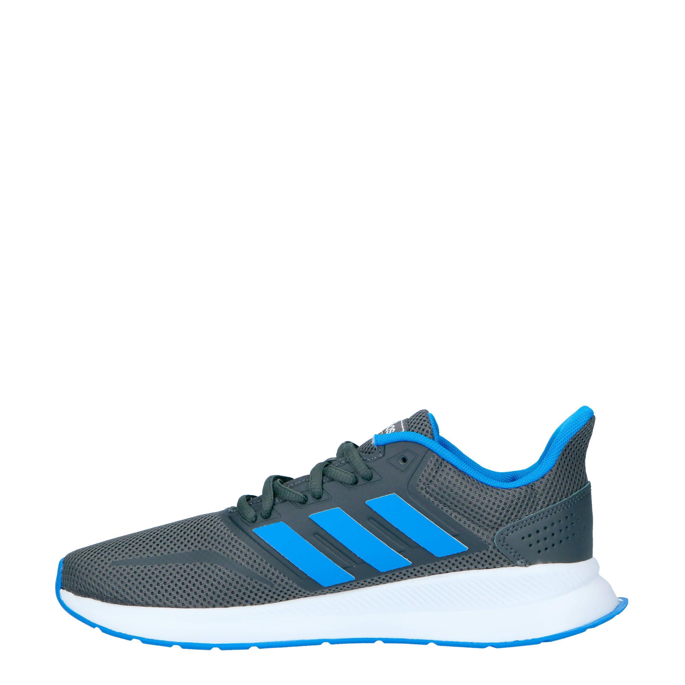adidas Performance Runfalcon Hardloopschoenen Grijs/blauw in het Grijs voor heren