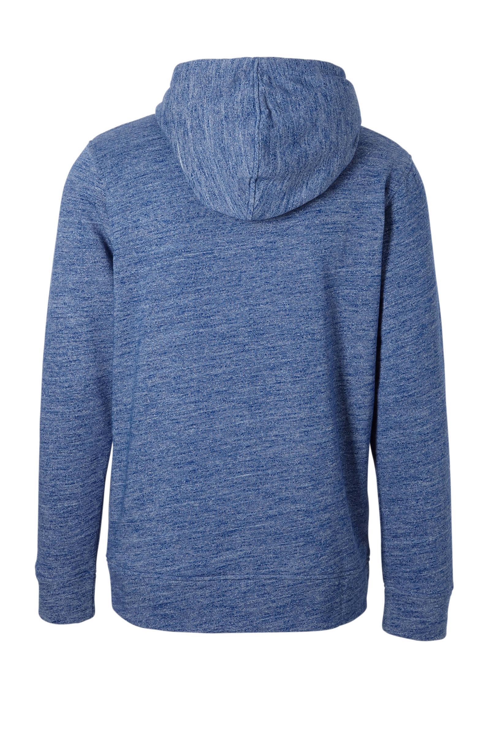 Jack & Jones Essentials Hooded Sweater in het Blauw voor heren
