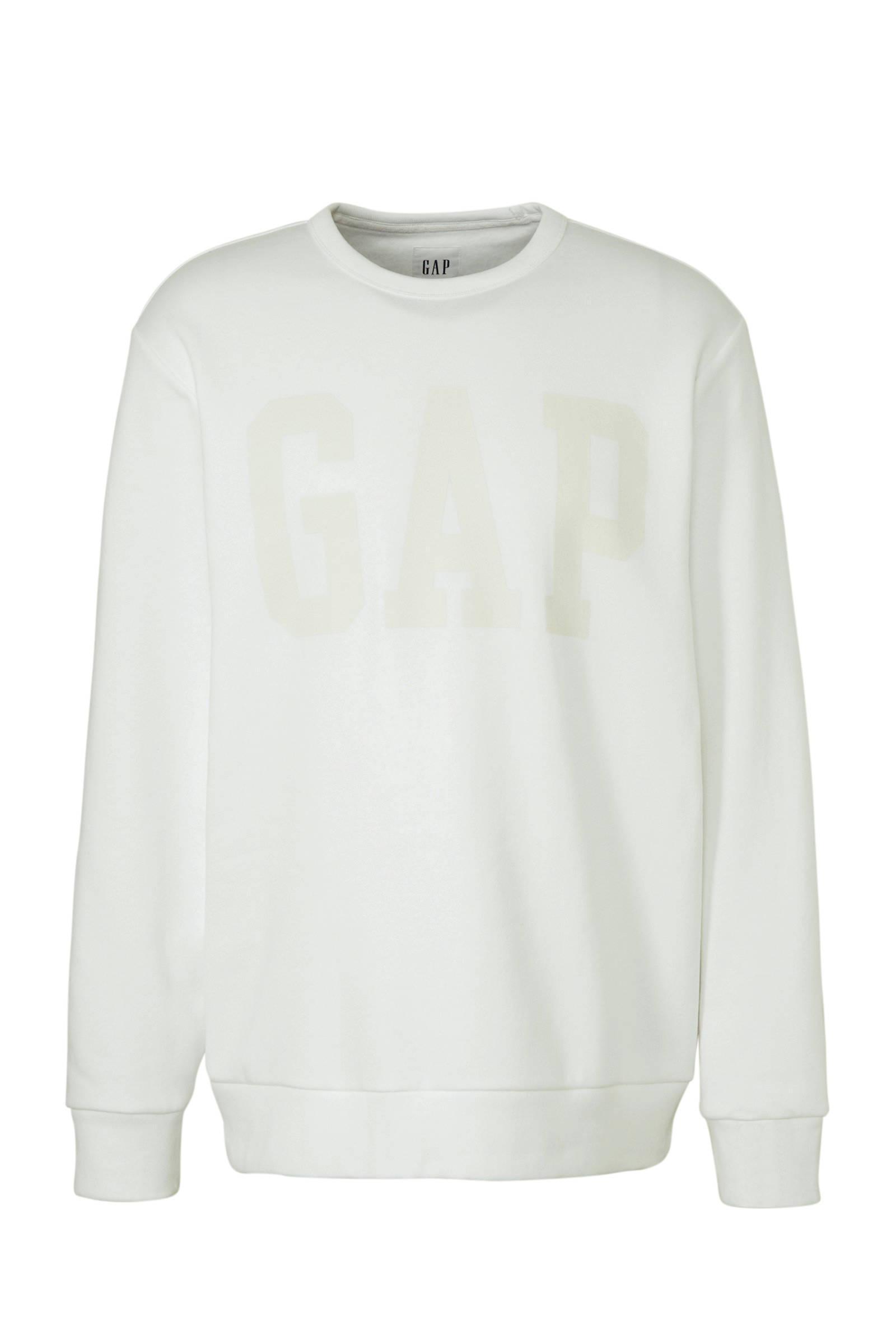 Gap Sweater Met Printopdruk Wit in het Wit voor heren