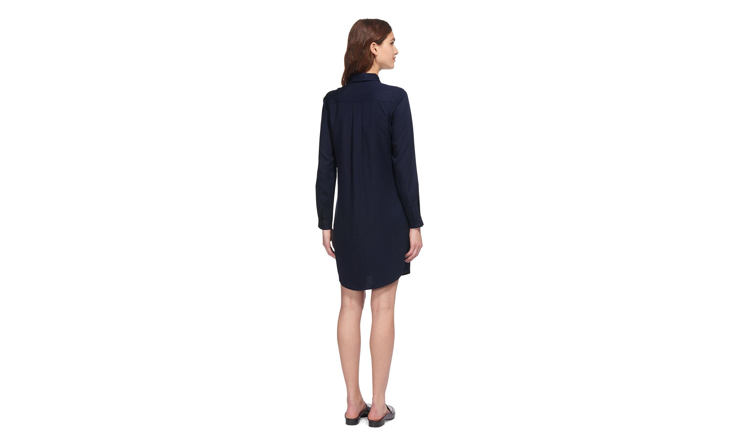 Lyst Whistles Wrap Tie Shirt Dress In Blue