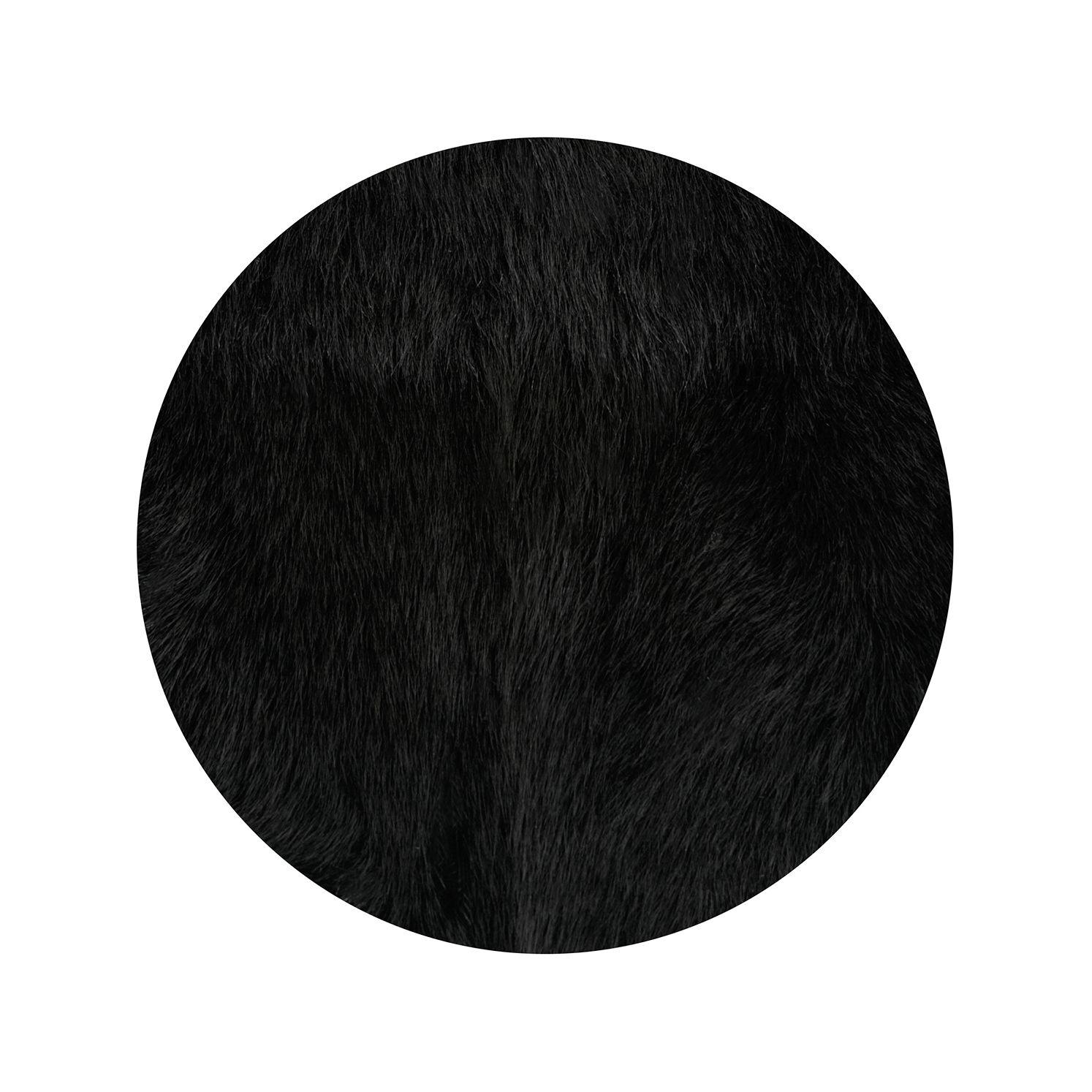 Whistles Longline Sheepskin Gilet in Black