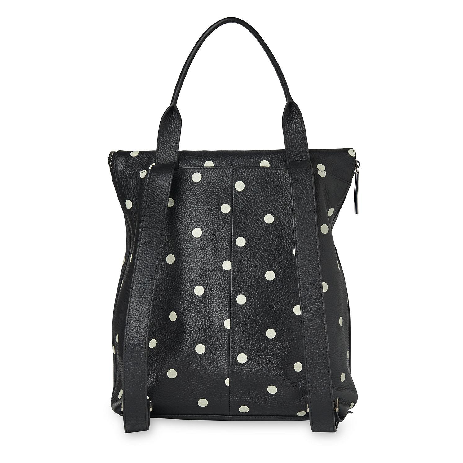 Whistles Leather Limited Spot Verity Backpack in Black