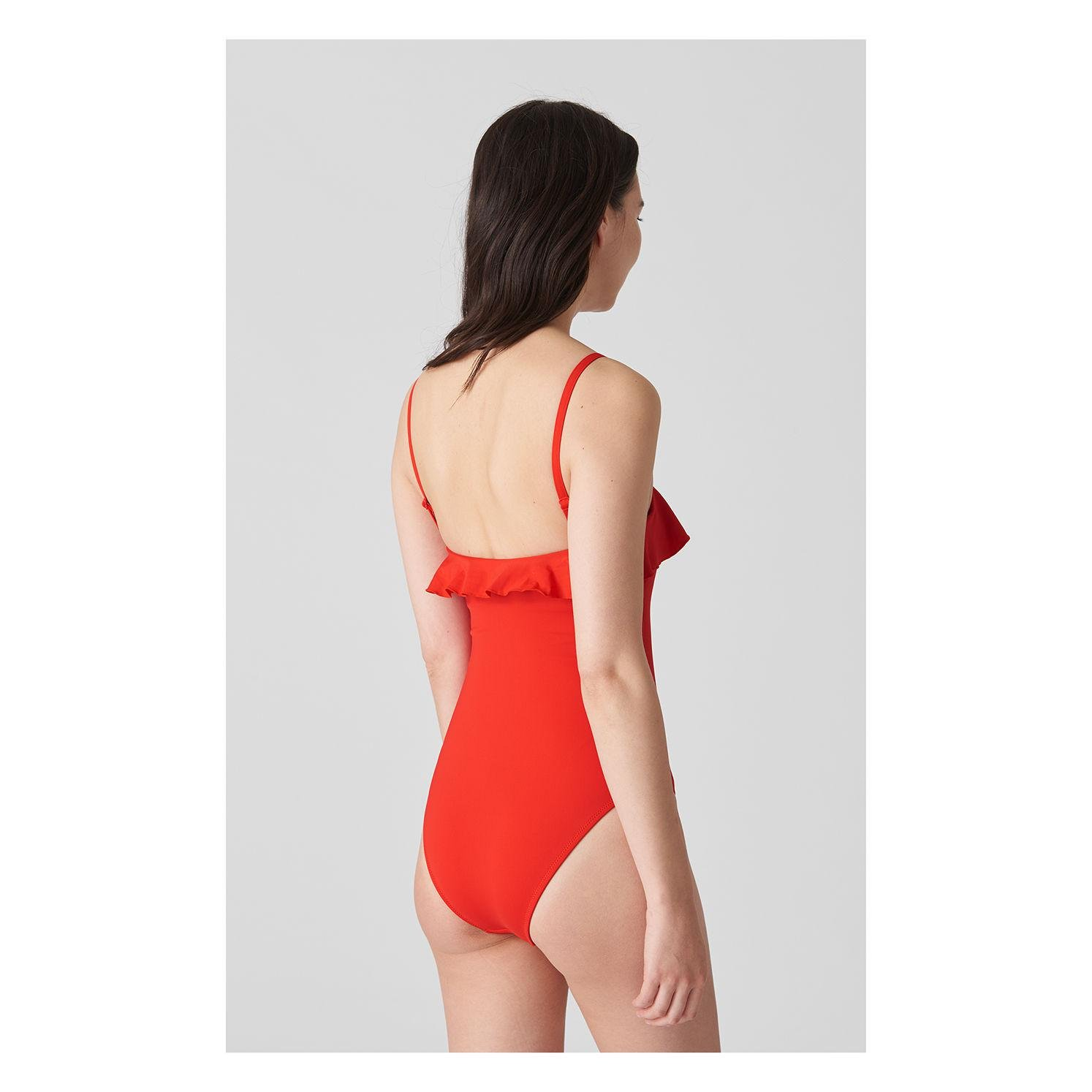 e0c9339e5a Lyst - Whistles Cali Frill Swimsuit in Red - Save 89.40719144800778%