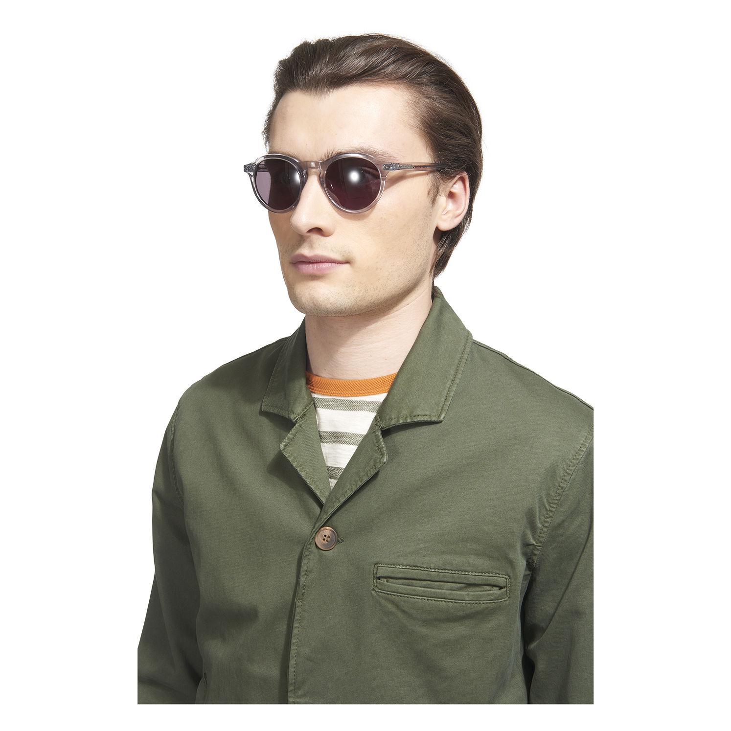 Whistles Round Frame Sunglasses in Grey (Grey) for Men