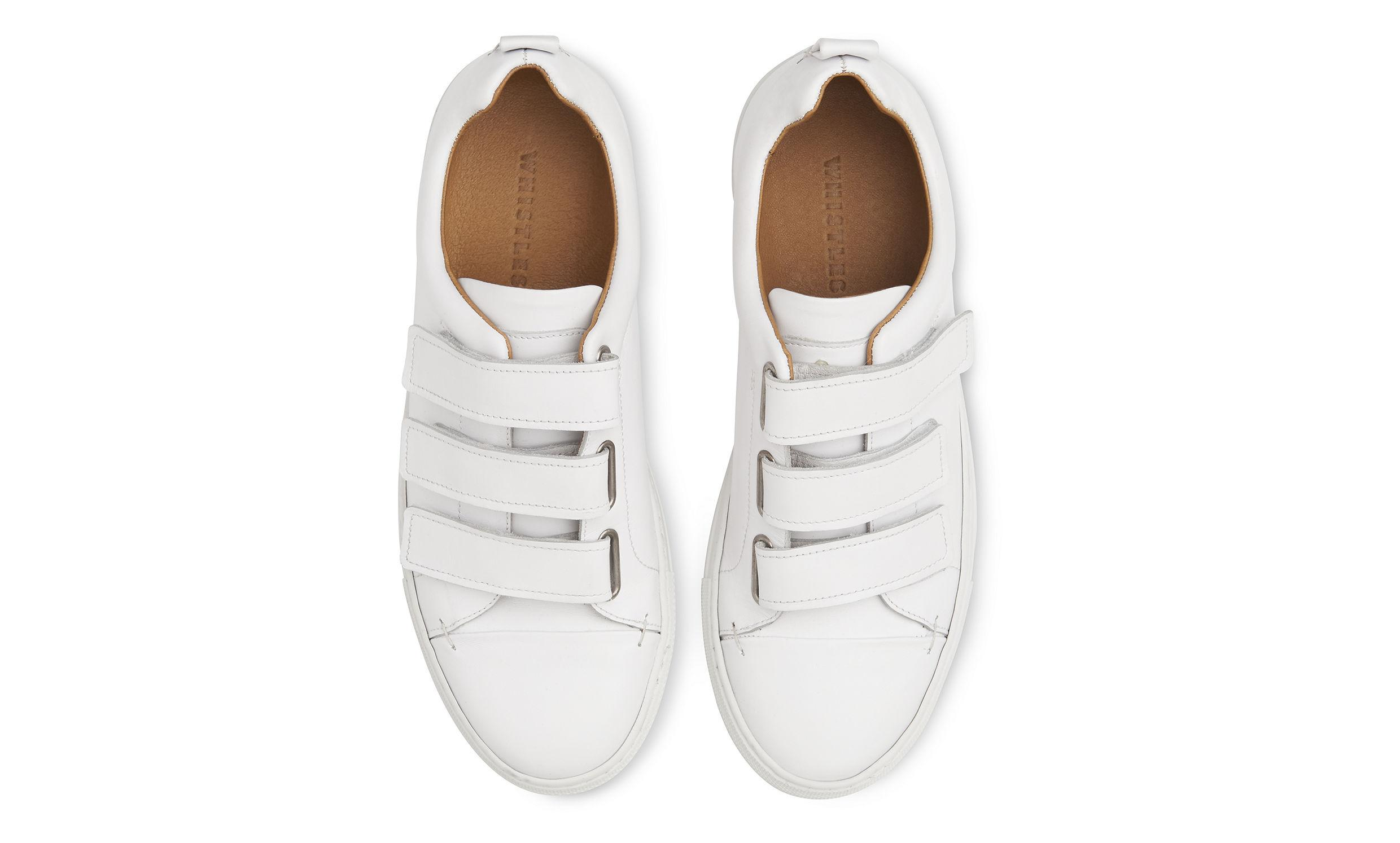 Whistles Aith Three Strap Trainer in White