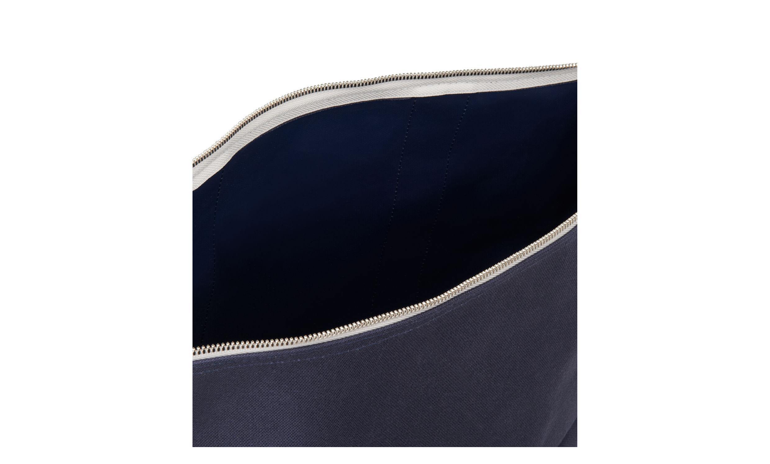 Whistles Leather Riley Roll Top Tote Bag in Navy (Blue)