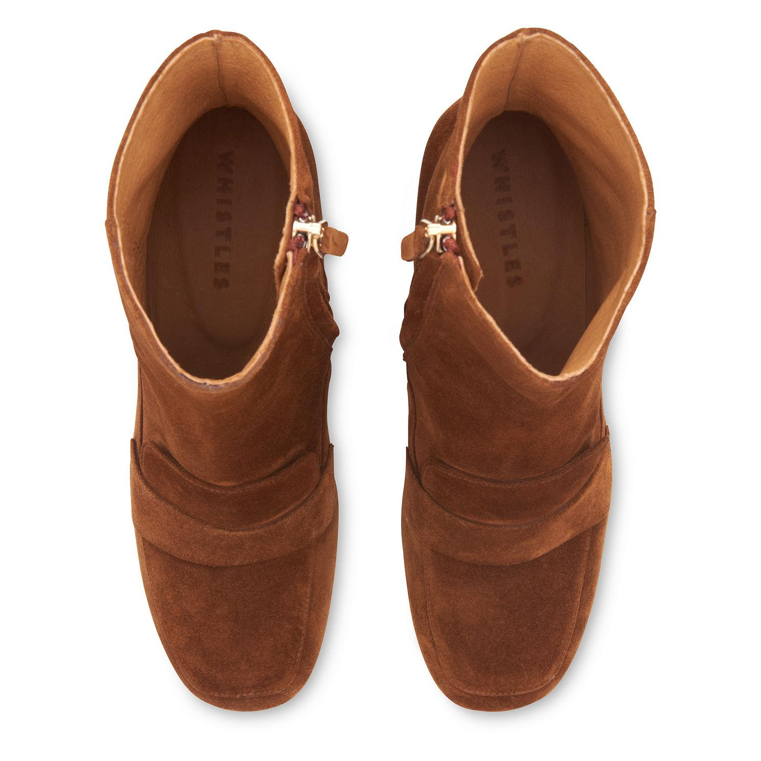 Whistles Suede Ambrose Square Toe Loafer Boot