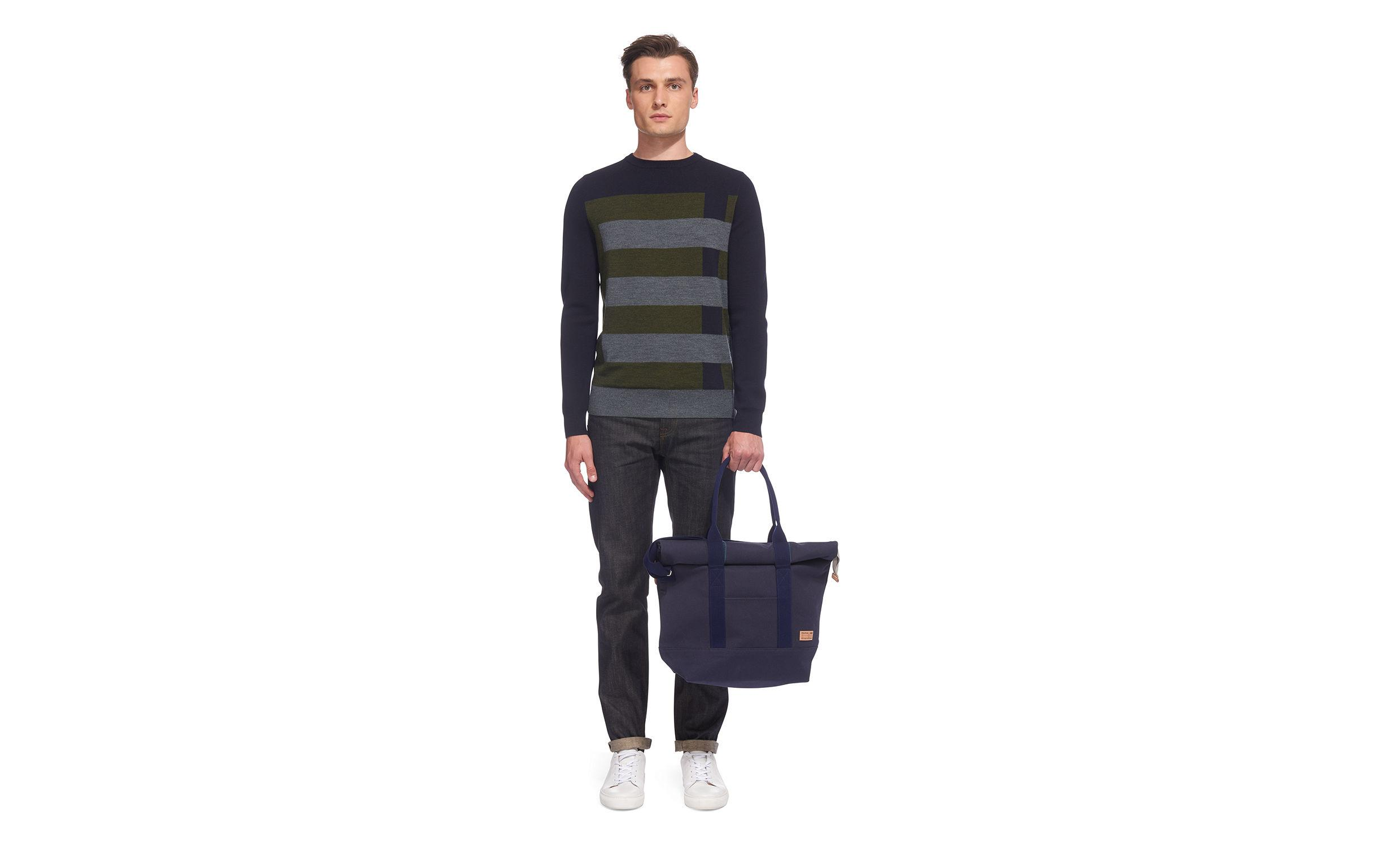 Whistles Riley Roll Top Tote Bag in Navy (Blue) for Men
