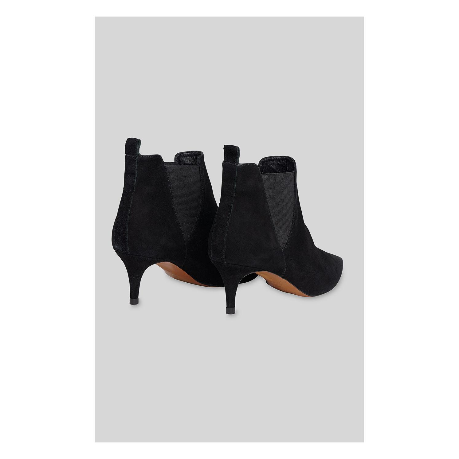 6acf36c33db2 Whistles - Black Orley Suede Kitten Heel Boot - Lyst. View fullscreen