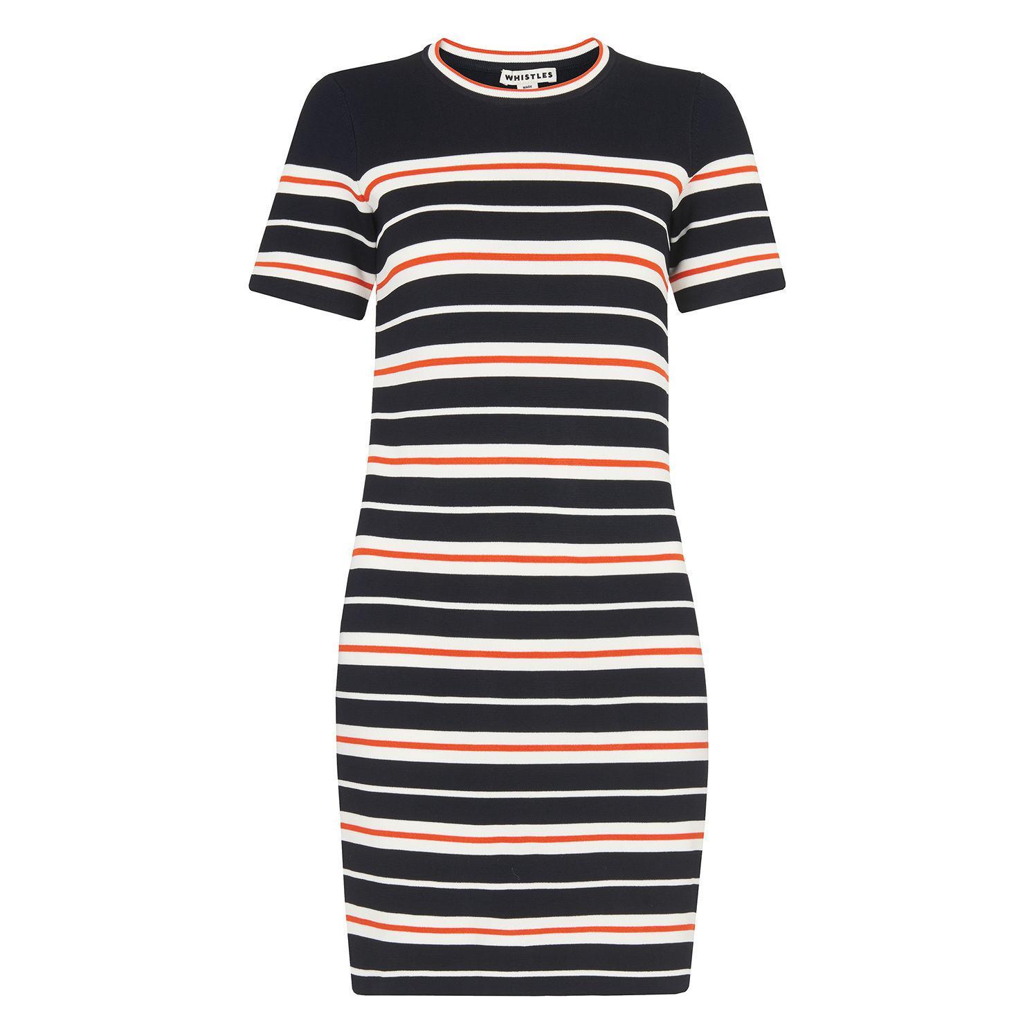 b840638bde8 Whistles - Multicolor Milano Stripe Knitted Dress - Lyst. View fullscreen