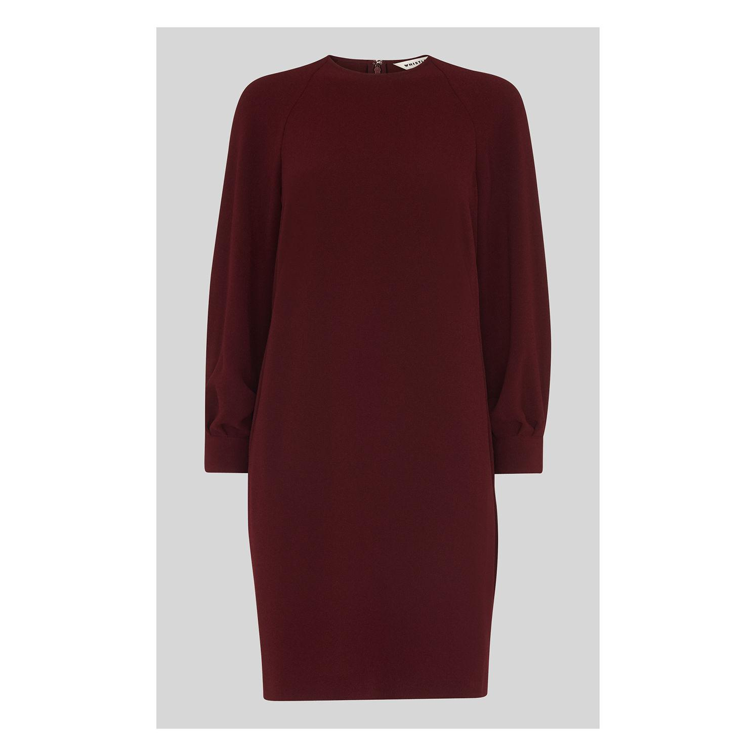 Lyst - Whistles Tihara Textured Dress in Red a139eda49