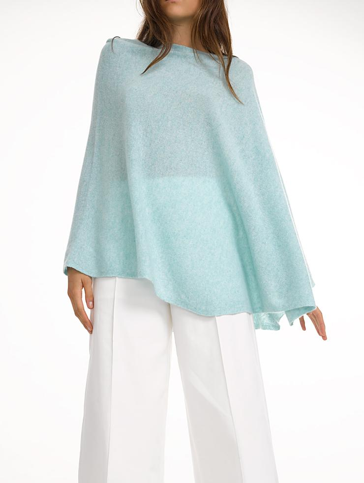 White + warren Cashmere Two Way Angled Topper in Blue | Lyst